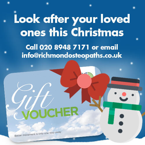 It's Christmas at Richmond Osteopaths – December Newsletter